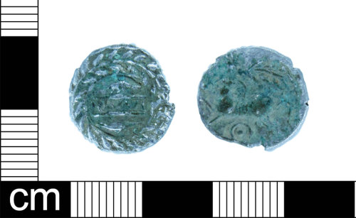 ESS-D4AA33: Iron Age coin: Silver unit of Cunobelinus