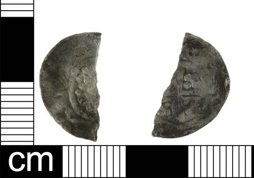 ESS-DF48B7: Medieval coin: cut halfpenny