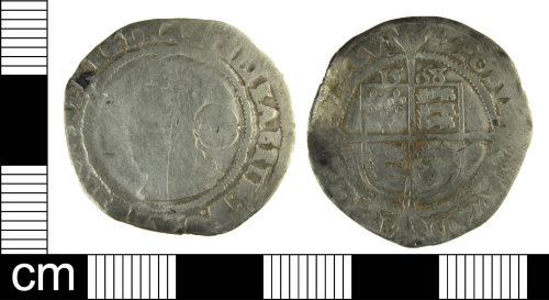 ESS-DFCD21: Post medieval coin: Sixpence of Elizabeth I