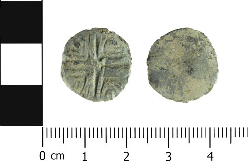 A resized image of Post medieval lead token