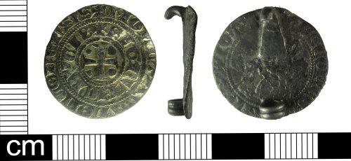 ESS-F60F94: Medieval coin brooch