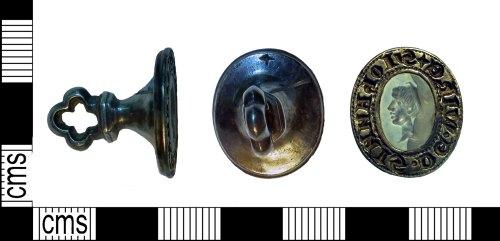 SUR-36D8C9: Medieval silver seal matrix