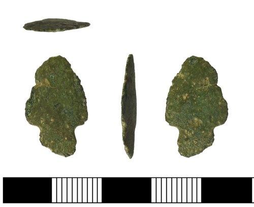 SUR-4655A8: Bronze Age copper alloy arrowhead