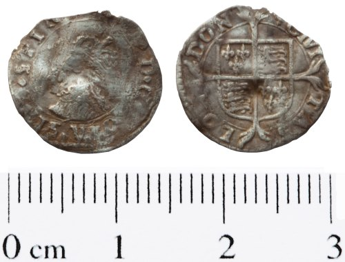 A resized image of Elizabeth I Penny, first issue (1558-1559)