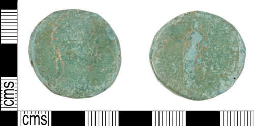 KENT-28C659: Roman copper alloy coin