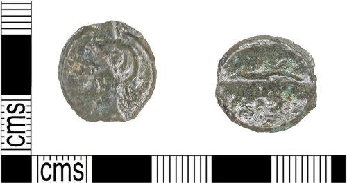 KENT-418D65: Cast copper alloy Potin (unit) of the Cantiaci (175-140 BC)