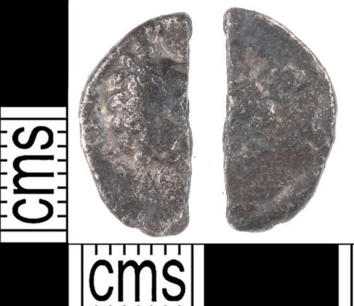 KENT-FFB7EF: Clipped Silver Roman Denarius