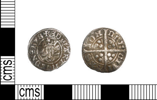 LANCUM-0E4533: Medieval silver hammered penny of Edward I dating from c. AD1301-1310. Class 10cf3(b). North 1042/2.