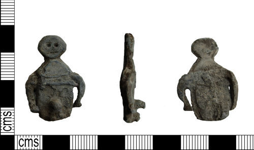 LANCUM-169CC6: Lead alloy phallic figurine probably dating to the Romano-British period.