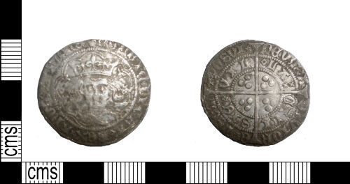 LANCUM-718A26: Late medieval silver groat of Henry VI dating from c. AD1427-1430; rose-mascle issue. North 1446.