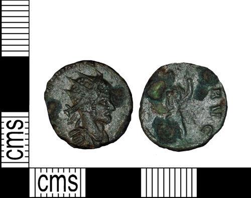 LANCUM-8997AE: A copper alloy radiate copy of Claudius II (AD 268-70).