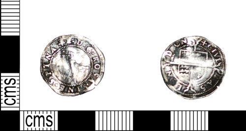 LANCUM-DF9861: Silver penny of Elizabeth I first issue 1558-1561