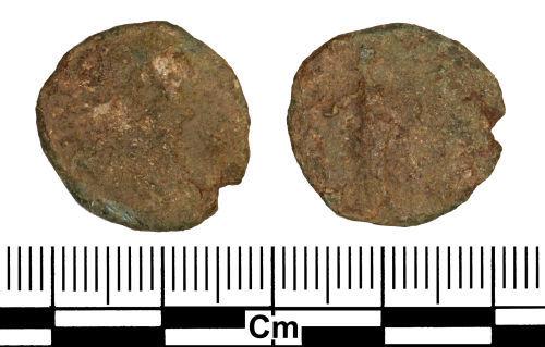 ESS-0488A2: Roman Coin : Radiate of Carausius