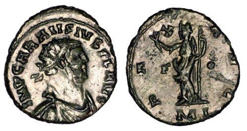 ESS-1DB9A0: Roman Coin : Radiate of Carausius