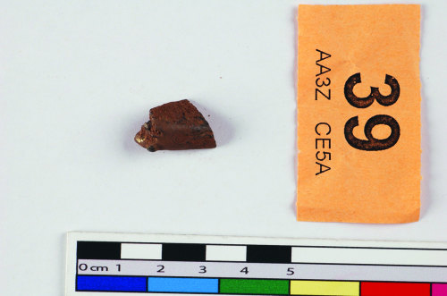 STAFFS-99E416: Silver sword pommel fragment