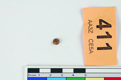 STAFFS-BF1E87: Hemispherical head from a hilt rivet