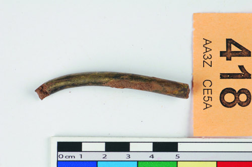 STAFFS-BF9177: Fragment of U sectioned channel, surface gilt.