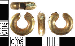 A resized image of Late Bronze Age Gold Penannular Ring