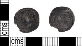 A resized image of Silver Half Groat of Charles I