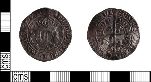 SUSS-358031: Medieval coin: Groat of Henry VII