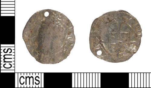 SUSS-393F48: Post Medieval Silver Coin, Gilt and Pierced as Pendant