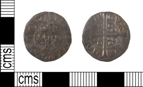 SUSS-66AA28: Medieval Coin: silver sterling imitation of Gaucher of Châtillon,