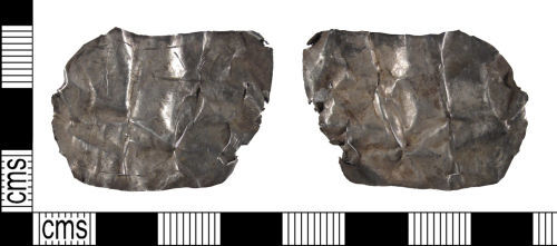SUSS-75B584: Post Medieval Decorated Silver Fragment