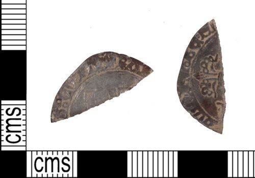 SUSS-94E5C6: Medieval coin: double patard of Charles the Bold, Duke of Burgundy (fragment)