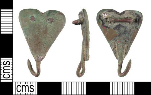 SUSS-B55265: Late Medieval to early Post Medieval Hooked Tag