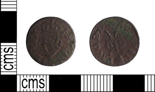 SUSS-EA7F76: Post Medieval Coin: Royal Farthing Token of Charles I