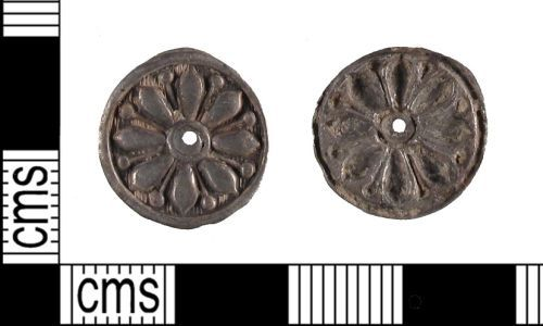 SUSS-EB2A66: Probable Post Medieval Silver Circular Mount