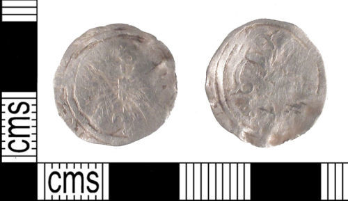 SUSS-F27A51: Medieval Coin: Spanish Silver Half Real of Ferdinand and Isabella