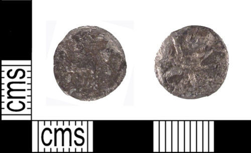 SUSS-FE6225: Iron Age Coin: uniscribed silver minim