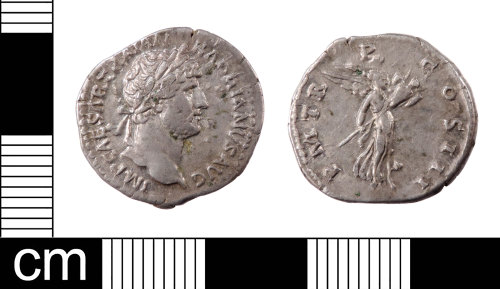 LON-07BD74: A silver denarius of Hadrian (AD 117-138) dating from AD 119-122. Mint of Rome. RIC II, p.352, no.101