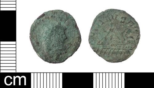 LON-0FD193: A Roman copper-alloy Q-Radiate of Allectus (AD 293-6)