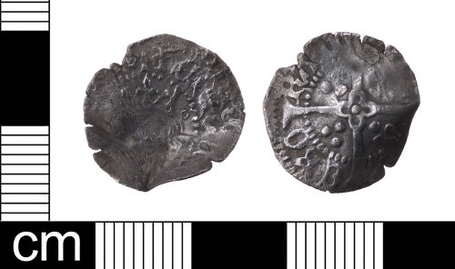 LON-5AC7B0: A silver Medieval penny of Henry V, Class C dating AD 1413-1422. Mint of York. The obverse has been double struck. North 1400.