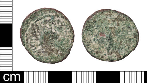 LON-5B996D: A very worn copper-alloy Roman radiate of uncertain later 3rd century AD ruler, possibly Claudius II (AD 268-270)