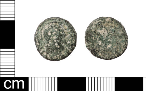LON-5B9B24: A complete copper alloy nummus of The House of Constantine.