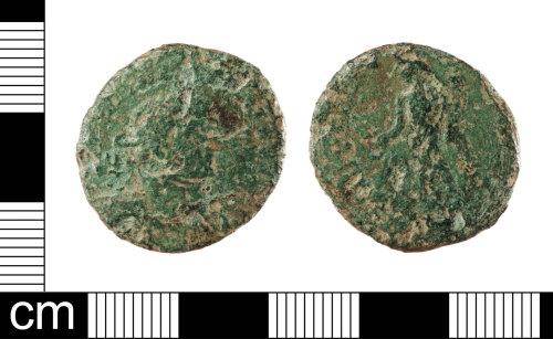 LON-625293: Roman copper alloy nummus of an uncertain tetrachic emperor, cuiras and laureate head right dating AD 294-307, Reece period 15.