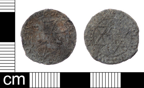 LON-A62256: A Post Medieval lead alloy token from the first half of the 16th century.