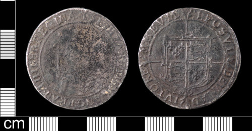 LON-B2785D: A Post Medieval silver halfcrown of Elizabeth I (AD 1558-1603) dating from AD 1601. Initial mark one. Mint of London. North (1975:113, No. 2013).