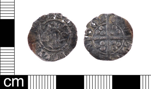LON-C0FFFD: A silver Medieval penny of Edward I dating AD 1301-1310. This is a Class class 10cf2 penny. Mint of London. North (1975:24, no. 1041).