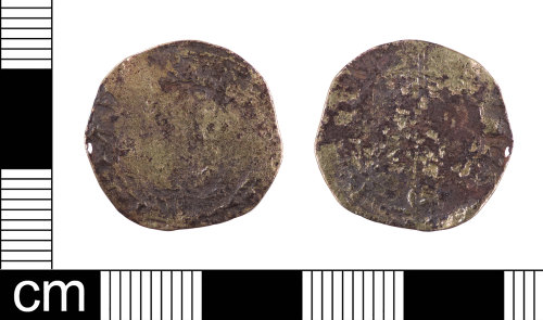 LON-C1022F: A Post Medieval debased silver groat of Henry VIII (AD 1509-1547), dating AD 1542-44.