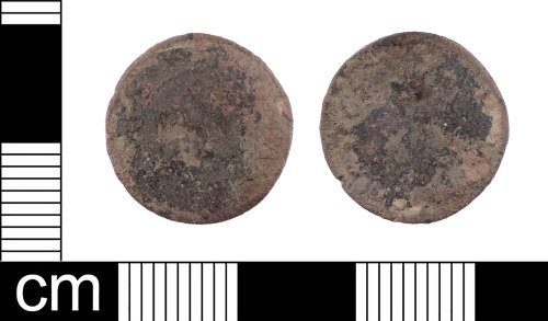 LON-C154AD: A complete English Post-Medieval copper-alloy farthing trade token, issued Thomas Adams in Windsor, dated AD 1652. Williamson (1889:40 no.163)