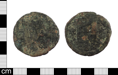 LON-E26C6E: A Byzantine Copper alloy Follis of Anastasius, Justin I or Justinian I, Mint of Constantinople dating to AD 512-38