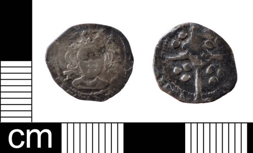 LON-F6E06D: A worn Medieval silver penny of Henry VII (1485-1509) minted at York under Archbishop Thomas Rotherham, 1485-1500 (North 1975: , ref: 1722).