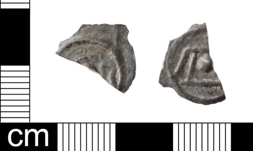 A resized image of An incomplete late Iron Age, 1st century BC copper alloy flat linear class II, Holman G3 and Allen type P1, potin dating to 60-45 BC.