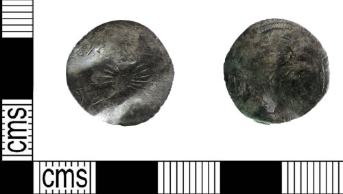 LIN-A091E1: Medieval coin: half real of Ferdinand and Isabella of Spain