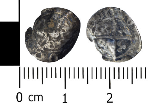 WREX-612F4A: Silver halfpenny of either Henry VI, Edward IV or Henry VII