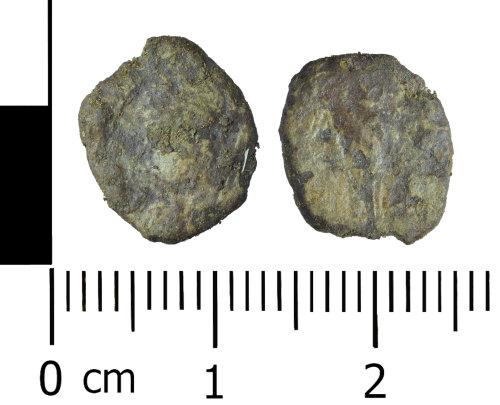 WREX-99417C: Very worn copper alloy Roman Nummus of House of Constantine (AD 330-340)